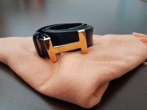 Vera Pelle Belt gold-colored-dark blue