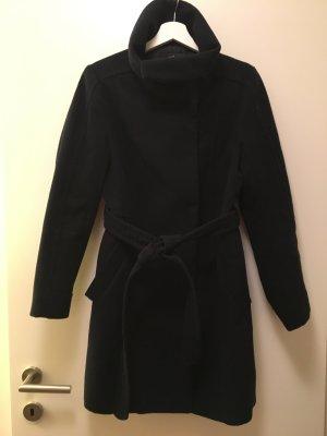 H&M Manteau d'hiver bleu foncé tissu mixte