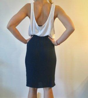 Mint&berry Plaid Skirt dark blue