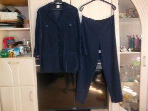 dunkelblauer hosenanzug,neu,gr. 42,hose,jacke