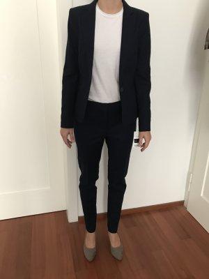 Mango Suit Trouser Suit dark blue cotton