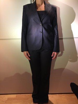 Massimo Dutti Traje de negocios azul oscuro Algodón