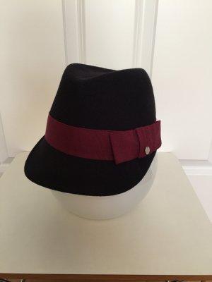 Esprit Vilten hoed donkerblauw-donkerrood Wol