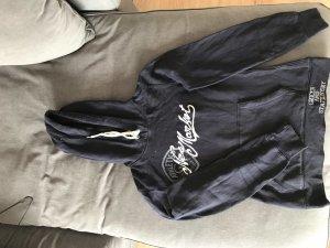 H&M L.O.G.G. Jersey con capucha azul oscuro-blanco