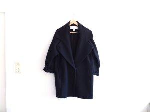 dunkelblauer Mango Premium Mantel Gr. M 38 40 Wolle Cabanmantel eggshape