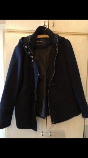 dunkelblauer Mantel Mode Blogger Style Trend Jacke Kurzmantel