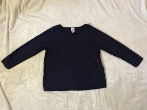 Dunkelblauer Monki Pullover mit Patches, Größe 36/S