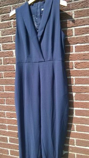 H&M Broekpak blauw-staalblauw Polyester