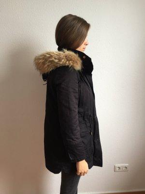Zara Abrigo de invierno azul oscuro