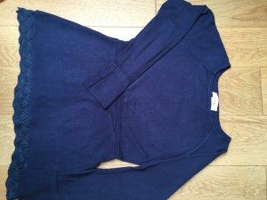Linea Tesini Maglione girocollo blu Tessuto misto