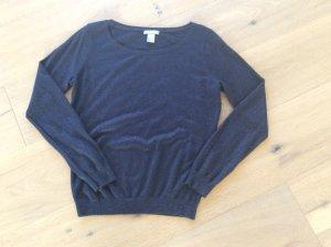 Dunkelblauer Pullover mit Lurex - Größe M