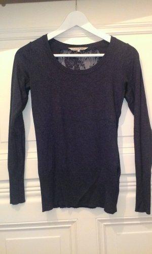 Dunkelblauer Pullover mit Spitze von CLOCKHOUSE