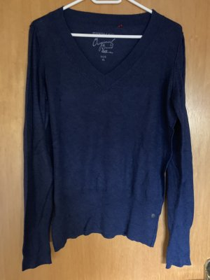 QS by s.Oliver V-Neck Sweater dark blue