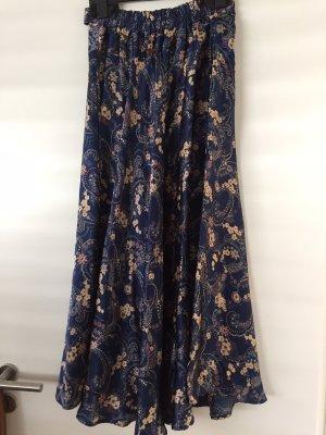 Falda larga azul oscuro