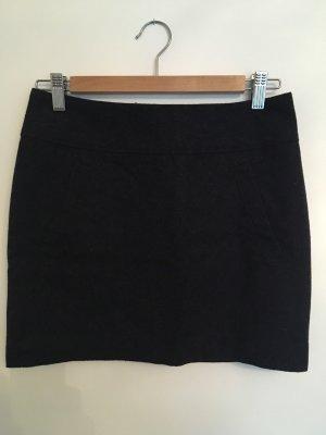 H&M Falda de talle alto gris-azul oscuro