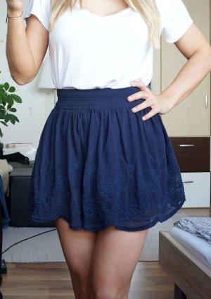 Forever 21 Falda de encaje azul oscuro-azul