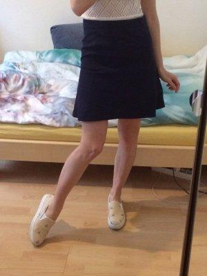 Marie Lund Skaterrok donkerblauw-blauw