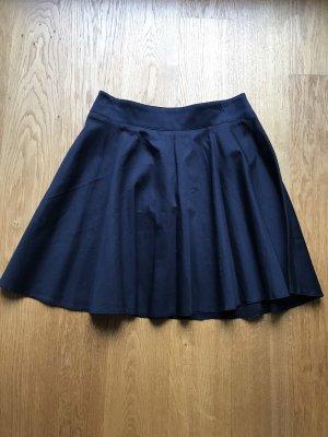 nife Plaid Skirt dark blue
