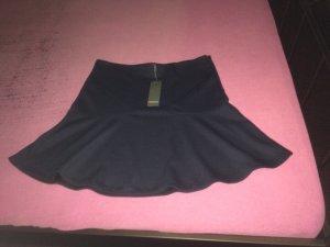 Street One Flared Skirt dark blue viscose