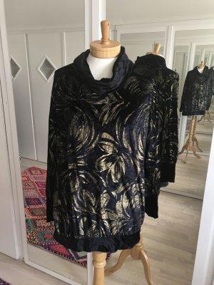 Dunkelblauer/s Pulli/Shirt * aus leichtem Samt * oversized tragbar
