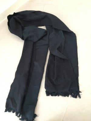 Dunkelblauer Schal von Valentino / Seide