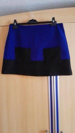 Dunkelblauer schwarzer Rock A-Linie Promod Größe 38 M