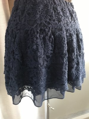 Zara Lace Skirt dark blue