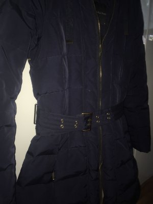 Zara Manteau matelassé bleu foncé-doré