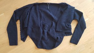 Sarah Pacini Coarse Knitted Sweater dark blue mixture fibre