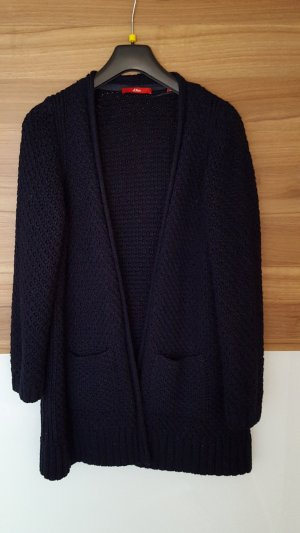 s.Oliver Coarse Knitted Jacket dark blue