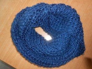 Bufanda de punto azul oscuro-azul