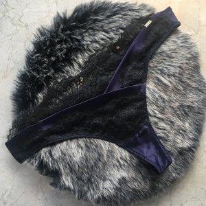 Hunkemöller Onderbroek zwart-donkerblauw