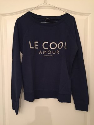 Dunkelblauer Sweatshirt/Pullover von Mango
