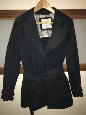 H&M Trench Coat dark blue