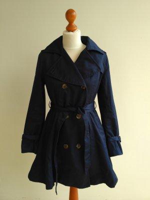 dunkelblauer Trenchcoat von H&M