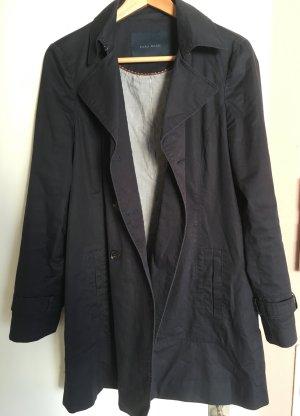 Dunkelblauer Trenchcoat von Zara, Gr. M (38)
