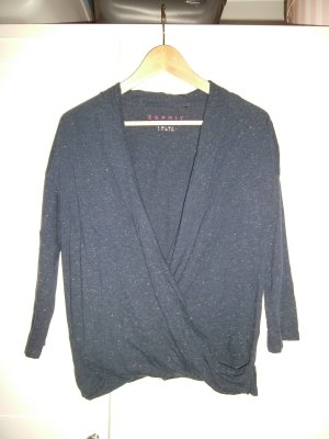 Esprit V-Neck Sweater dark blue-sand brown