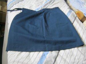 Jupe portefeuille bleu foncé