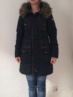 Dunkelblauer Wintermantel von Khujo