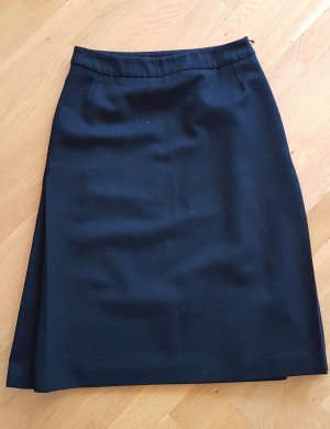 Dries van Noten Wool Skirt dark blue wool
