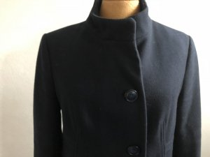 Benetton Wollen jas donkerblauw