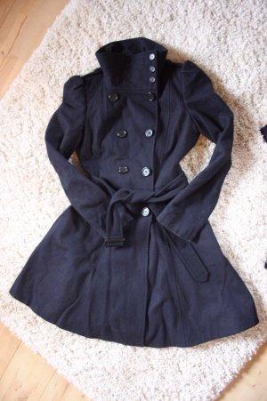 Dunkelblauer Wollmantel im Trenchcoat Style von ASOS