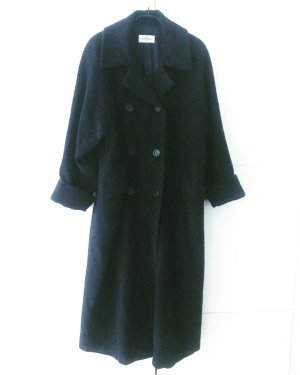 dunkelblauer wollmantel / oversized / vintage / edgy / cool