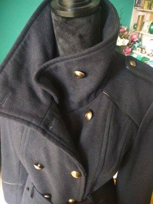 Mexx Manteau en laine bleu foncé