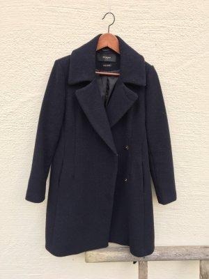 Reserved Abrigo de lana azul oscuro
