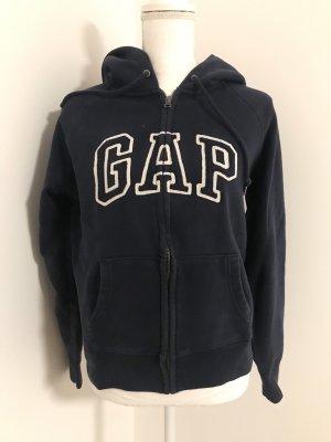 Dunkelblauer zip-hoodie von gap