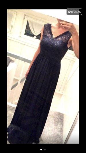 Dunkelblaues Abendkleid