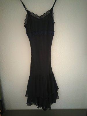 dunkelblaues Abendkleid Apart mit Spitzendetails