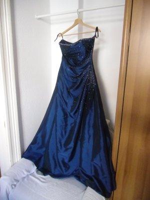 Dunkelblaues Abendkleid, selten getragen