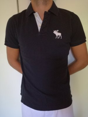 Dunkelblaues Abercrombie & Fitch Polo Shirt Gr. L
